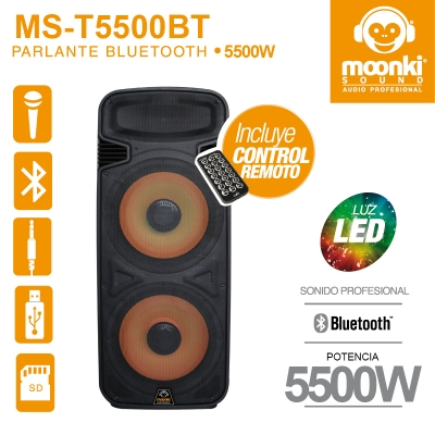 Caixa de Som MS-T5500BT Black Edition