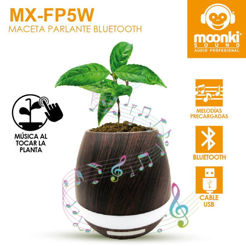 Macetero Musical Bluetooth Moonki Sound MX-FP5W